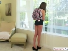 Russian slender hottie Elena Koshka gives awesome deepthroat BJ and gets...
