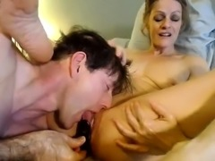 A powerful blonde dominant toys with guy small dick