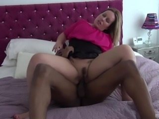 Black man's cock is all nasty chick Ashley Rider wants to bend over for