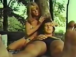 Couple Having Sensuous Sex in a Public Park (1970s Vintage)