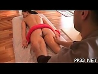 Hard boner during massage
