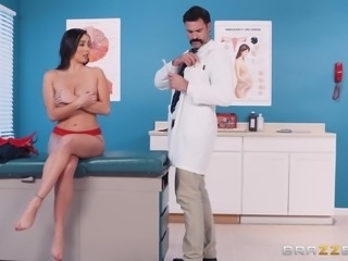 Nasty doctor gets seductive Karlee Grey naked to fuck her hard