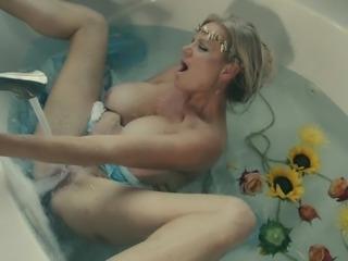 Kelly Madison enjoys a scented bath and a hot orgasm
