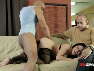 Huge cock tears twat of sexy blowlerina Gabriella Paltrova apart (FMM)