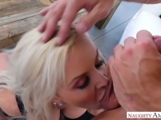 Stacked blonde Nina Elle has fallen in love with her fuck buddy's cock