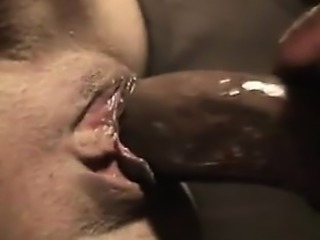 Interracial big black cock cumshot