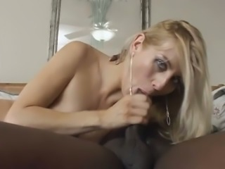 Slim blonde nympho Celestia Star is in ecstasy with her first BBC