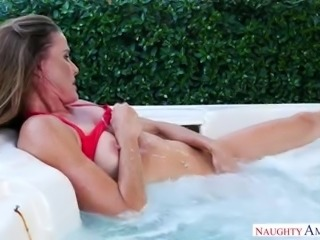 Wild missionary fuck right on the billiard table with Sofie Marie