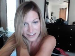 Sexy blonde in a hot solo masturbation clip