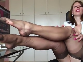 anett larmann solo in stockings