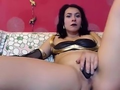 Solo hairy babe toys her big taco