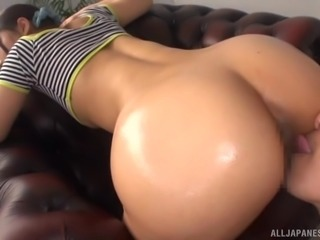 Matsushita Miori is a petite brunette whose ass is all a man craves