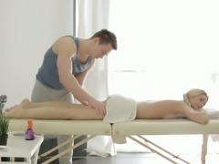Catania loves butt stimulation and her masseur knows how to fondle her ass