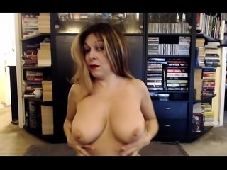 Giant true boobs blond haired sheer stockings screw