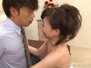 Captivating Asian cougar with nice ass moaning while being smashed hardcore...