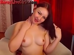 Smoking Teen With Hairy Pussy Masturbates