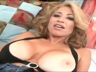 Hot blonde milf loves the feeling of that big cock.