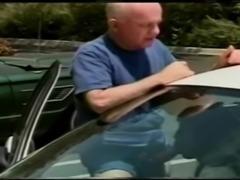 Old man outdoor fuck big tits ebony