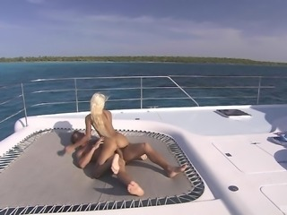 Boroka Bolls fucked on a luxurious yacht by a lucky hunk