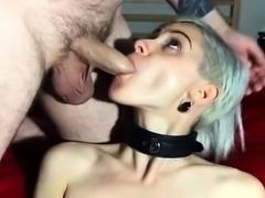 Angela amateur fetish blowjob in latex