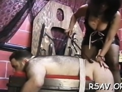 Stunning hottie gets spanked after thorough scrutiny