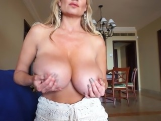 Skillful blonde Kelly Madison makes a man's dick stiff