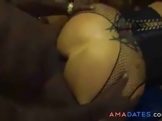 Interracial anal homemade sex video with my wife