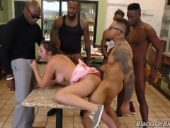 Naughty brunette Elektra Rose wants to be fucked by black men
