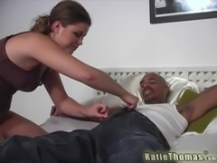 Katie Thomas is a chick with an amazing butt who loves to ride a BBC