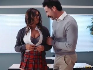 A new student appeared in our school and no one can withstand her huge breasts. Take a look at Ella Knox, pull your dick out of your pants and enjoy!