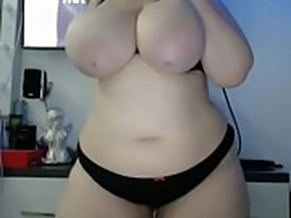 Thick big ass white girl free strip show