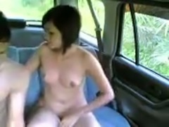 Cheating ass boyfriend fucking some girl on a back seat in the car