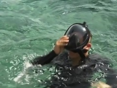 Lewd scuba-diver is so into fucking juicy pussy of charming Dolly Leigh