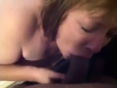 She sucks cock POV with lipstick til cumshot facial