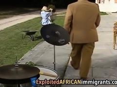 Hot interracial anal threesome