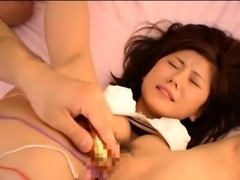 Stacked Japanese milf takes on a gang of toys and cocks