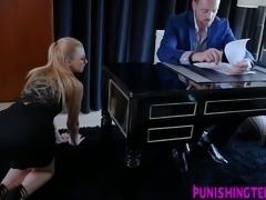 Bdsm secretary rides cock