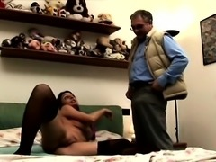 Giant boobs milf threesome with couple