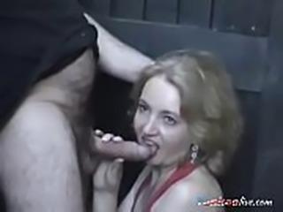 Blonde granny has a tight body