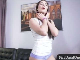 Teen Kristina Soul in her first time anal porn