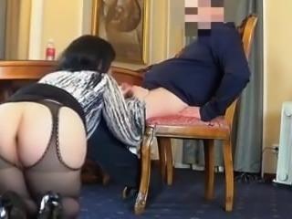 Boss fucks Russian BBW slut