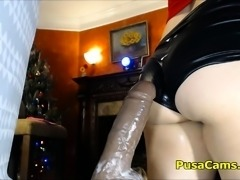 Squirting Dildo Crazy Pussy Loading with Sticky Hot White