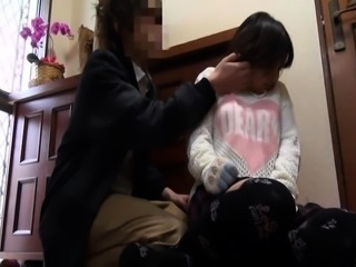 Adorable Japanese teen gets her hot honey hole fucked deep