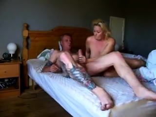 Stacked blonde mom takes every inch of cock at every angle
