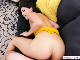 Just good doggy fuck for stunning bootyful brunette babe Sophia Leone