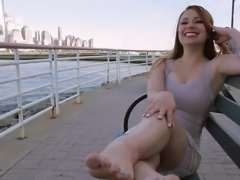 An Unexpected Meet With BECKY'S Sexy FEET By The Sea