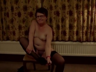 Saucy Mature Sluts Naughty Striptease in Hotel Room