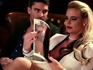 Eye-catching auburn MILF Phoenix Marie undresses to ride fat cock