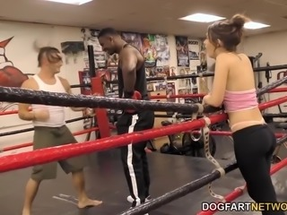 joseline kelly fucks trainer's bbc next to her husband