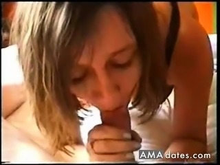 Busty mature sucks dick till cum on her large breasts